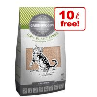 2 x 30l Greenwoods Natural Clumping Cat Litter - 50l + 10l Free!*