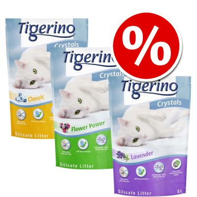 6 x 5L Tigerino Crystals Cat Litter Mixed Trial Pack - Special Price!*