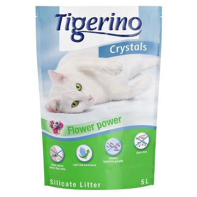 3 x 5l Tigerino Crystals Silicate Cat Litter - Buy 2, Get 1 Half Price!*