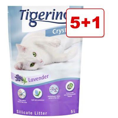 6 x 5 l Tigerino Crystals –tarjouksessa: 5 + 1 pussia!