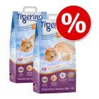 2 x 14 l Tigerino Nuggies macskaalom gazdaságos csomagban