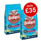 2 x Large Bags Bakers Dry Dog Food - Only £35!*