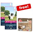 2 x Large Bags Eukanuba Dry Food + 8in1 Snack Box Free!*