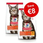 2 x Large Bags Hill's Science Plan Dry Cat Food - €8 Off!*