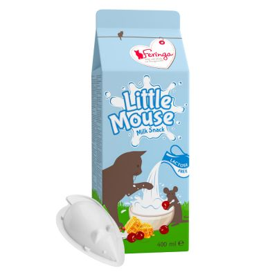 20 x 20ml Feringa Little Mouse Milk Cat Snacks - 15 + 5 Free!*