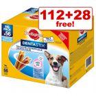 140 x Pedigree Dentastix Daily Oral Care Dog Snacks - 112 + 28 Free!*