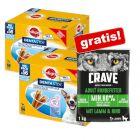 112 x Pedigree Dentastix + 1 kg Crave Adult Lam & Okse gratis!
