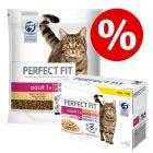 5 x 1,4 кг Perfect Fit сухой корм + 48 x 85 г Perfect Fit Mix в пакетиках по суперцене!