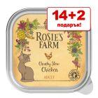 14 + 2 подарък! 16 x 100 г Rosie's Farm Adult