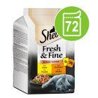 Икономична опаковка 72 x 50 г Sheba Fresh & Fine в паучове