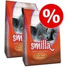 4 лв намаление! 2 x 4 кг Smilla суха храна за котки на специална цена!