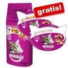 2 x Snacks gratis! 14 kg Whiskas Droogvoer