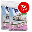 2 x 12 кг Tigerino Canada Постелка за котки