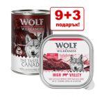 9 + 3 подарък! 12 x 300 г/ 400 г Wolf of Wilderness консервирана храна