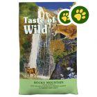 2 x zooPisteitä: 6,6 kg Taste of the Wild -kissanruokaa!