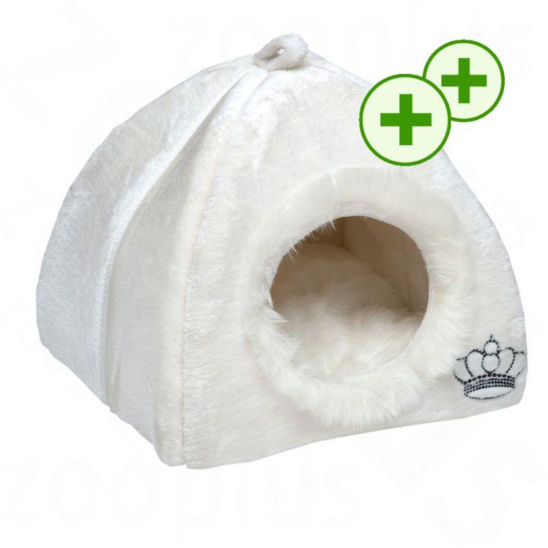 2x zooPisteitä: Royal Pet White -lemmikinmaja