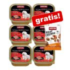 6x150g Animonda Vom Feinsten + 30 g Meat Chunks Small Tacchino Puro gratis!