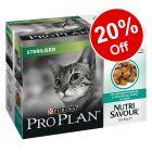 6x85g/10x85g Purina Pro Plan Wet Cat Food - 20% Off!*
