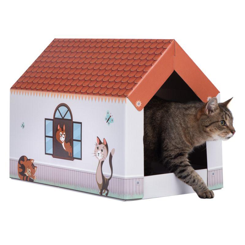 XL Home -kissanmökki + raapimisalusta