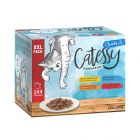 XXL Blandet pakke: 144 x 100 g Catessy Bidder