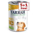 Yarrah Organic Wet Dog Food - 5 + 1 Free!*