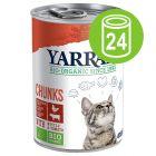 Yarrah Bio Bocaditos 24 x 405 g en latas para gatos - Pack Ahorro