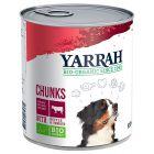 Yarrah Bio Chunks bœuf, orties, tomates pour chien