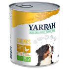 Yarrah Bio Chunks poulet, orties, tomates pour chien