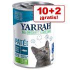 Yarrah Bio comida húmeda para gatos en oferta: 10 + 2 ¡gratis!