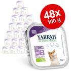 Yarrah Bio em terrinas - Pack económico 48 x 100 g