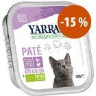 Yarrah Bio en tarrinas para gatos 12 x 100 g ¡con gran descuento!
