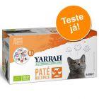 Yarrah Bio patê em terrinas - Pack de experimentação misto 8 x 100 g