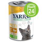 Yarrah Bio Paté 24 x 400 g en latas para gatos - Pack Ahorro