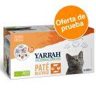 Yarrah Bio Paté 8 x 100 g en tarrinas para gatos - Pack de prueba mixto