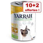 Yarrah Bio pour chat 10 x 400 / 405 g + 2 boîtes offertes !