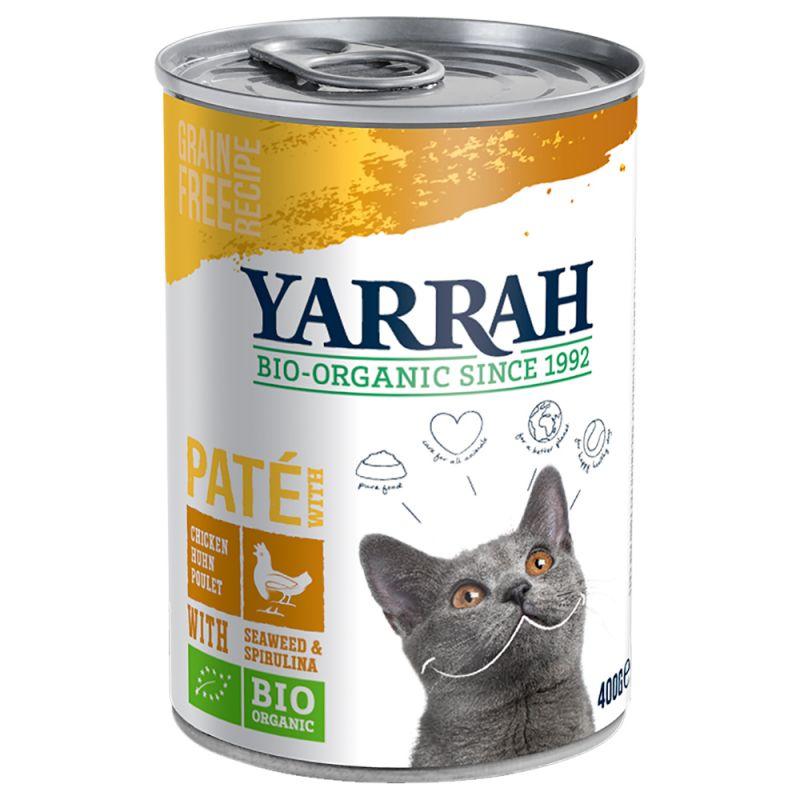 Yarrah Bio Pâté -kokeilupakkaus 6 x 400 g