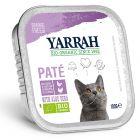 Yarrah Bio 48 x 100 g en tarrinas para gatos - Pack Ahorro