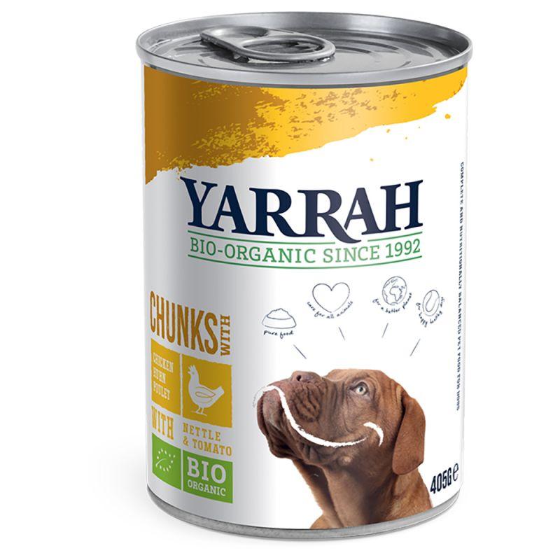 Yarrah biologisch hondenvoer chunks met kip