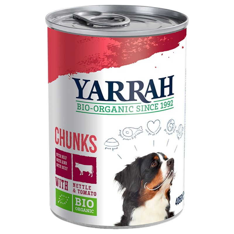 Yarrah Organic Beef & Chicken Chunks with Organic Tomato & Nettle