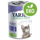 Yarrah Organic Chunks - Ekologisk kyckling & eko-kalkon med eko-nässlor