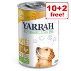 Yarrah Organic Wet Dog Food - 10 + 2 Free!*