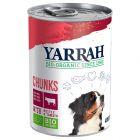 Yarrah pedaços biológicos de frango e vaca em latas