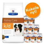 Yhteispakkaus: Hill's Prescription Diet Canine -kuiva- ja märkäruoka