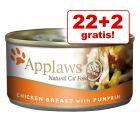 22 + 2 zdarma! Applaws konzervy 24 x 156 g