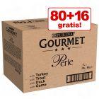 80 + 16 ZDARMA! Megapack Gourmet Perle 96 x 85 g