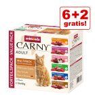 6 + 2 zdarma! 8 x 85 g Animonda Carny Pouch Multipack
