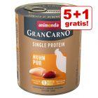 5 + 1 zdarma! 6 x 800 g Animonda GranCarno Adult Single Protein míchané balení