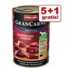 5 + 1 zdarma! 6 x 400 g Animonda GranCarno Original Adult