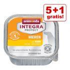 5 + 1 zdarma! 6 x 150 g Animonda Integra Protect