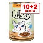 10 + 2 zdarma! 12 x 400 g Catessy kúsky v želé alebo v omáčke